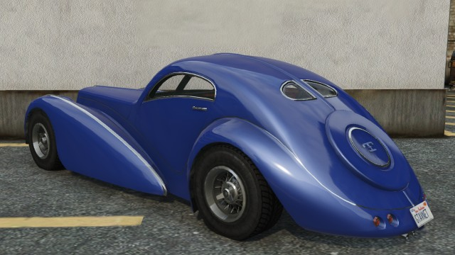 Truffade Z-Type GTA 5 Rear