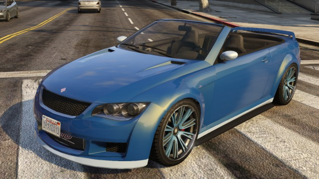 Blue Ubermacht Sentinel Convertible | GTA 5 Cars