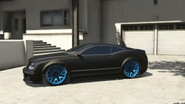 Enus Cognoscenti Cabrio Blue Rims