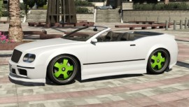 Enus Cognoscenti Cabrio Green Rims Hardtop