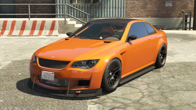 Orange Ubermacht Sentinel Xs Front Gta 5 Cars