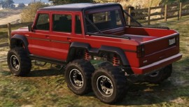 Benefactor Dubsta 6x6 Red Rear