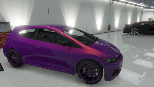 Custom Dinka Blista Purple Paint Job | GTA 5 Cars