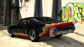 Declasse Stallion Modded GTA 5 Rear