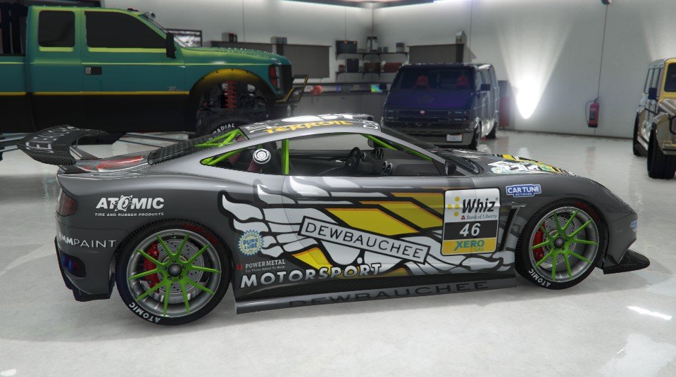 Dewbauchee Massacro Racecar Gray Side