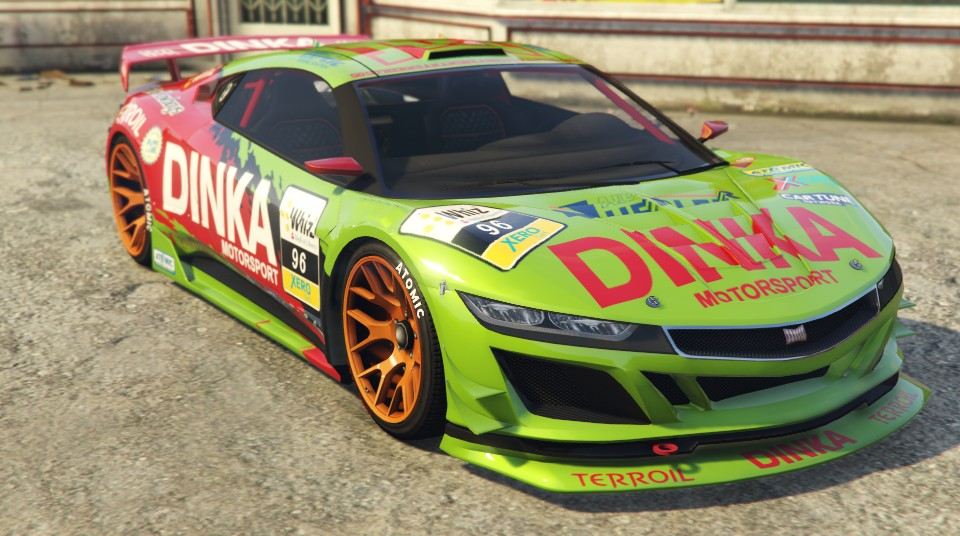Dinka jester racecar green front