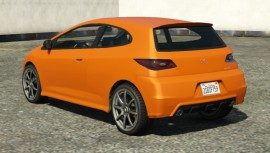 Orange Dinka Blista Rear View