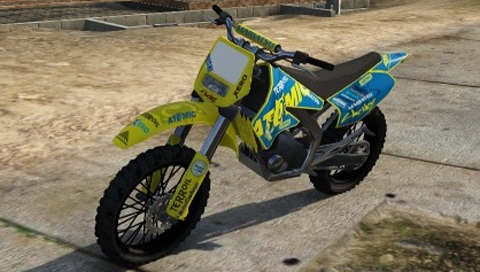Sanchez Atomic Tire Livery GTA 5 Front