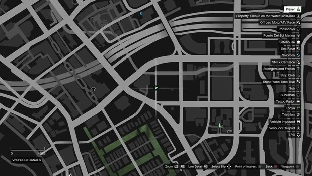 Vespucci Canals monkey mosaic map
