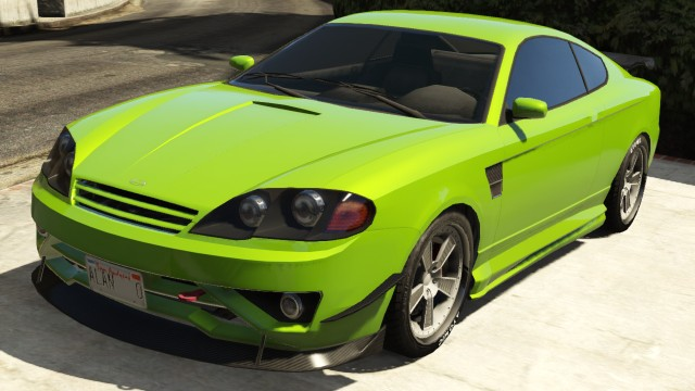 Green Bollokan Prairie Front View Gta 5 Cars