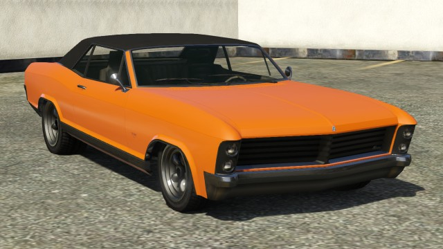 Orange Albany Buccaneer GTA 5 Front