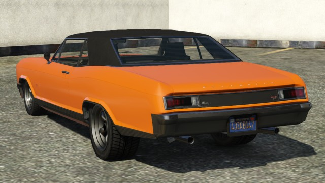 Orange Albany Buccaneer GTA 5 Rear