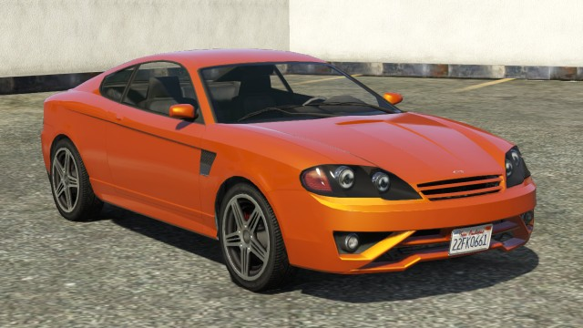 Orange Bollokan Prairie GTA 5 Front View