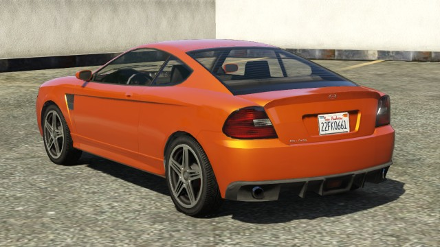 Orange Bollokan Prairie GTA 5 Rear View