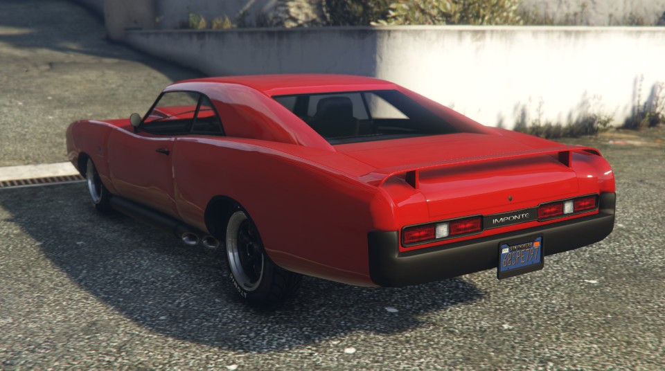 Red Imponte Dukes GTA 5 Rear
