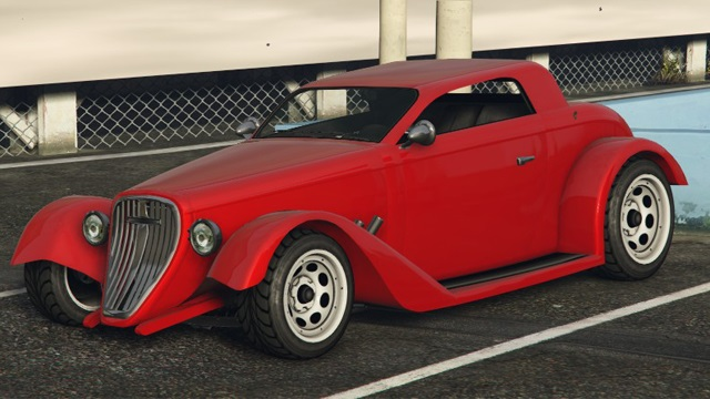 Red Vapid Hotknife GTA 5 Front View