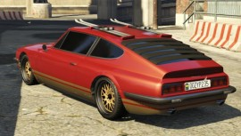 Red Lampadati Pigalle GTA 5 Rear