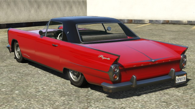 Vapid Peyote Hardtop GTA 5 Rear View