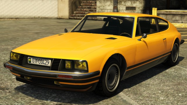 Yellow Lampadati Pigalle GTA 5 Front View