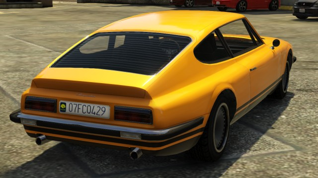 Yellow Lampadati Pigalle GTA 5 Rear View