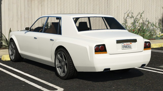 Enus Super Diamond GTA 5 Rear View