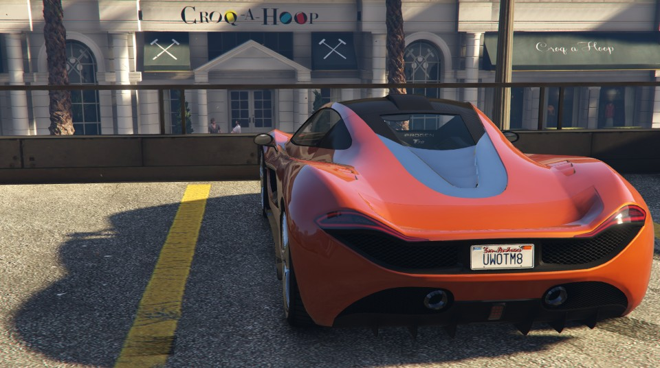 Progen T20 GTA 5 Rear View