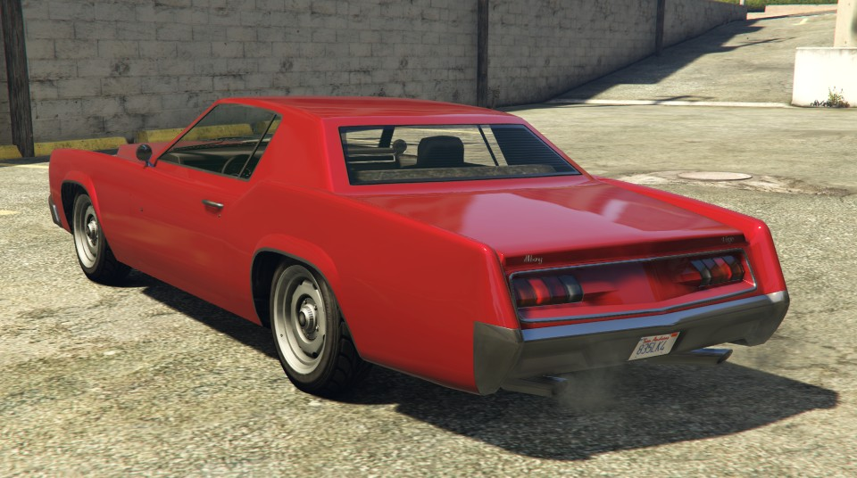 Red Albany Virgo GTA 5 Rear View