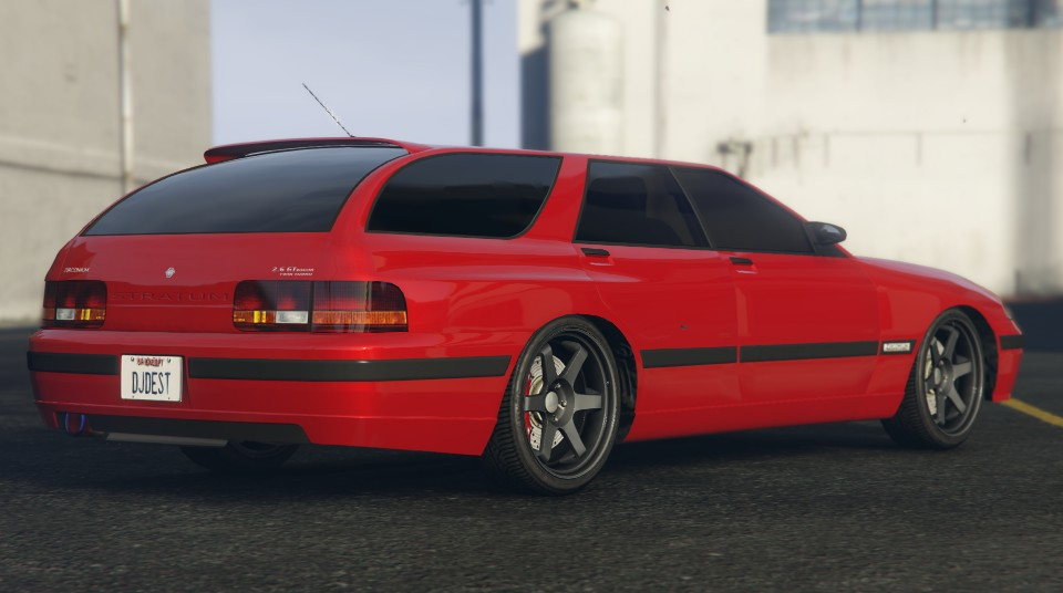 Red Zirconium Stratum GTA 5 Rear Quarter View