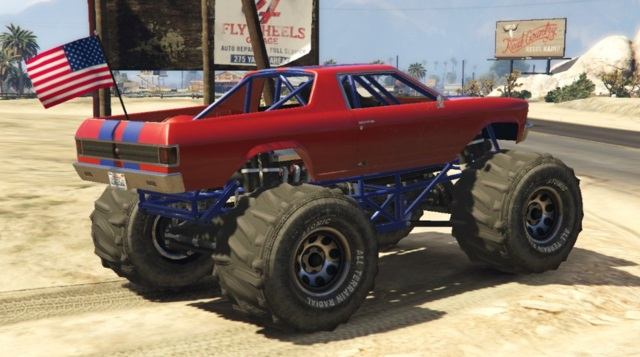 Cheval Marshall Monster Truck GTA 5 Rear View