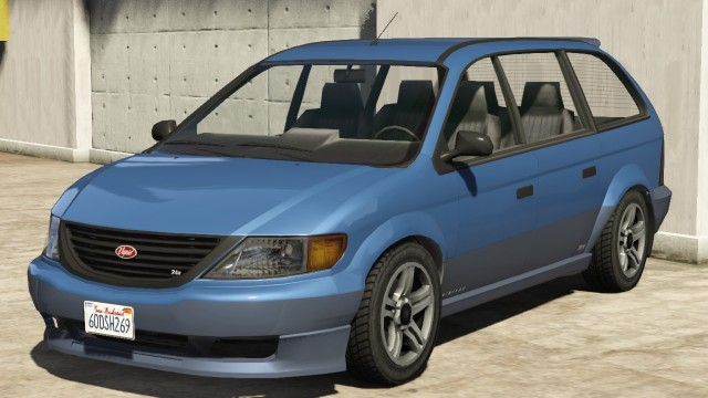 Vapid Minivan GTA 5 Front View