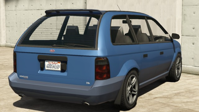 Vapid Minivan GTA 5 Rear View