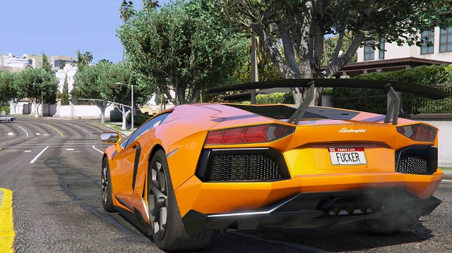 Lamborghini Aventador LP700-4 GTA 5 Rear