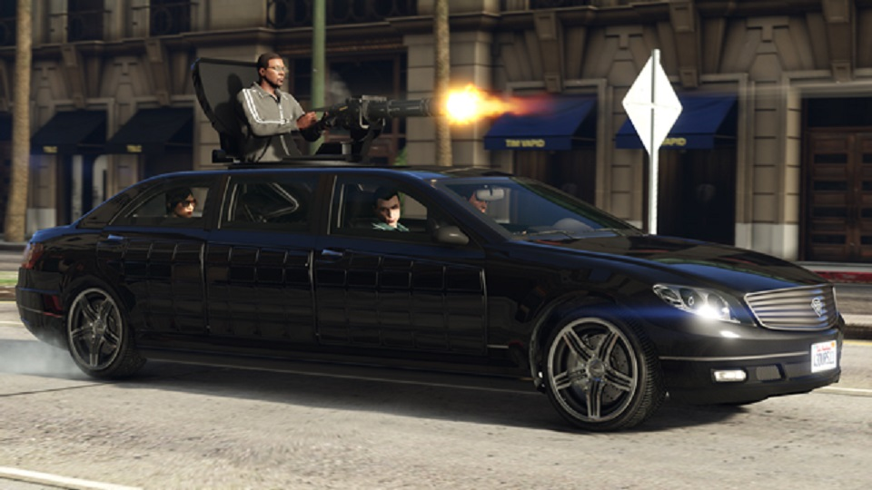 Benefactor Turreted Limo GTA Online Executive and Other Criminals