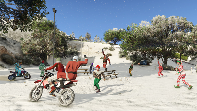 snowball battles GTA Online