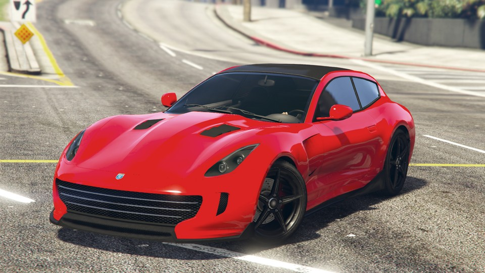 Grotti Bestia GTS GTA Online Sports Car Front Quarter View