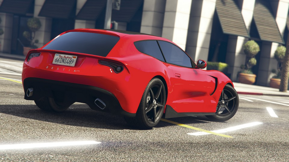 Grotti Bestia GTS GTA Online Sports Car Rear Quarter View