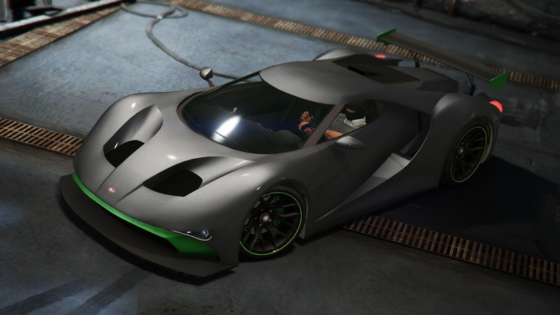 Vapid FMJ with Black Paintjob GTA Online Supercar